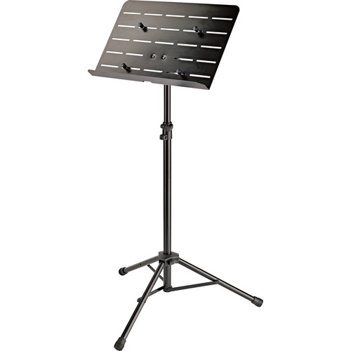 K&M Orchestra Music Stand with Tablet Holder (Black)