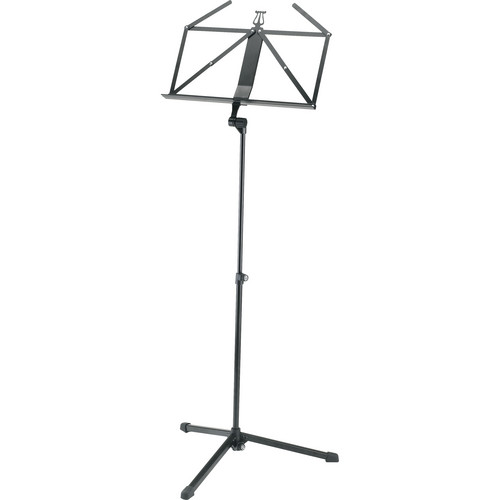 K&M 2-piece Foldable Starline Music Stand (Black)