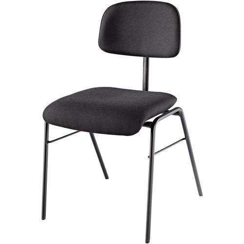 K&M Musician's Chair-Steel Frame/Padded (Black)