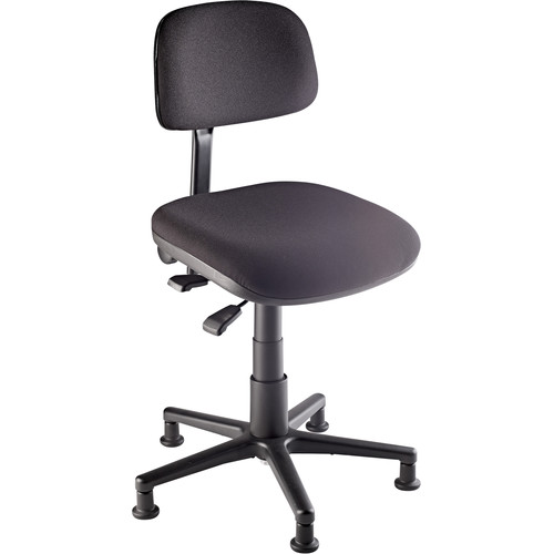 K&M 13470 Chair for Percussion, Cello, and Harp (Black)