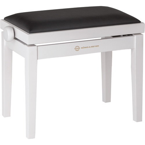 K&M 13710 Piano Bench Wooden Frame with White Matte Finish