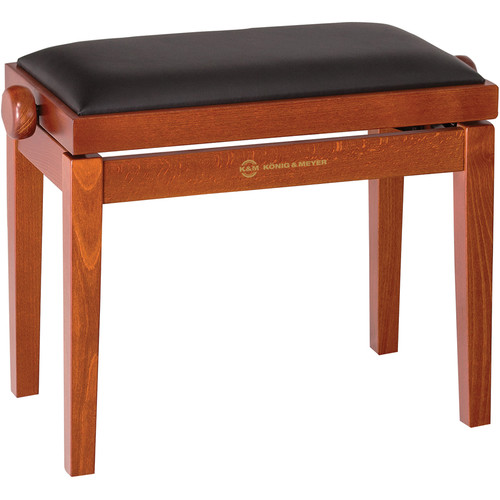 K&M 13740 Piano Bench Wooden Frame with Cherry Matte Finish
