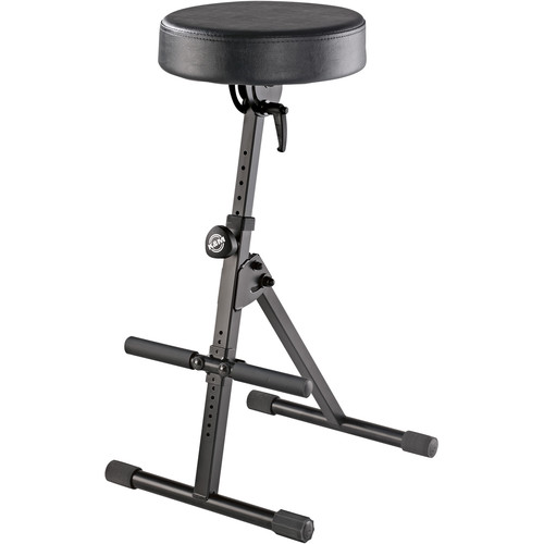 K&M 14061 Performer/Musicians Stool with Pneumatic Lift (Black)
