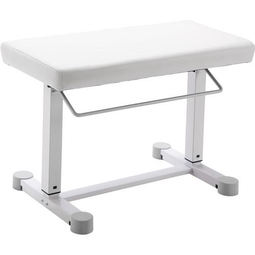 K&M 14080 Uplift Piano Bench (Imitation Leather, Pure White)
