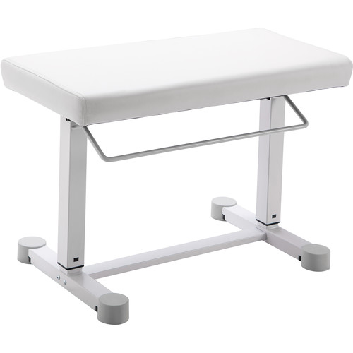 K&M 14080 Uplift Piano Bench (Imitation Leather, Pure White)