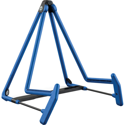 K&M 17580 Heli 2 Acoustic Guitar Stand (Blue)