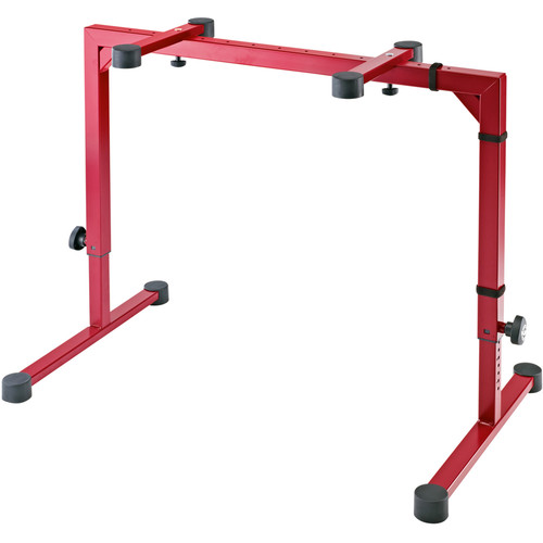 K&M 18810 Omega Table-Style Keyboard Stand (Ruby Red)