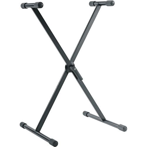 K&M 18930 Keyboard Stand, X Style (Black)