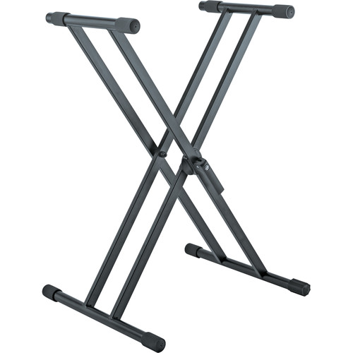 K&M X-Shaped Keyboard Stand for Load up to 110 lb (Black)
