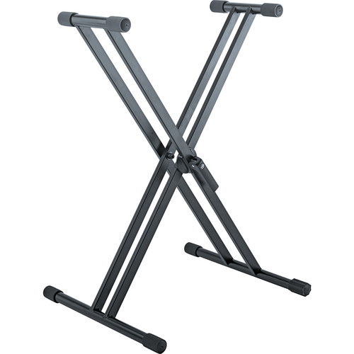 K&M Rick 20 X-Shaped Keyboard Stand for Load up to 110 lb (Black)