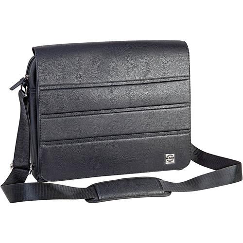 K&M Leather Shoulder Bag for Sheet Music & Tablets (Black)