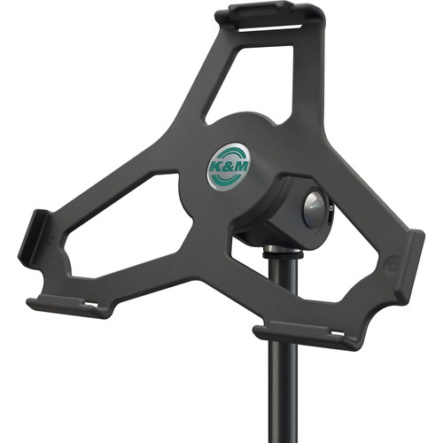 "K&M iPad Air 2 Holder for 5/8"" Microphone Stand (Black)"