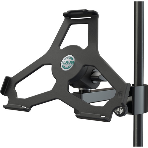 K&M iPad Air 2 Holder for Stand Tube Up to 33mm (Black)