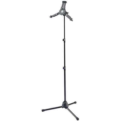 K&M 19793 Tablet PC Stand with Tripod Base (Black)