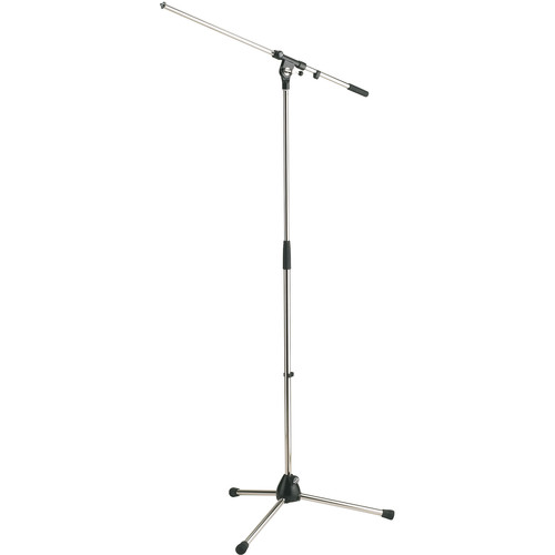 K&M 21020 Tripod Microphone Stand with Boom (Chrome)