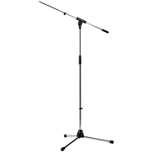 K&M 210/6 Tripod Microphone Stand with Fixed Boom (Chrome)