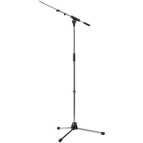 K&M 210/8 Tripod Microphone Stand with Telescoping Boom (Chrome)