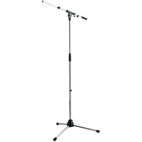 K&M 210/9 Tripod Microphone Stand with Telescoping Boom (Chrome)