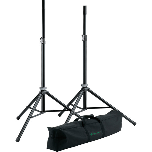 K&M Two Speaker Stands & Carrying Bag Set