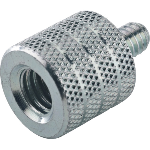 """K&M 21920 Thread Adapter 3/8"""" Female to 1/4"""" Male (Zinc-Plated)"""