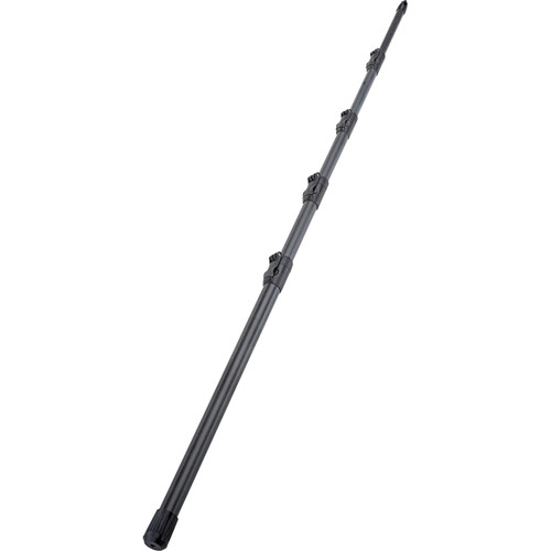 K&M Microphone Carbon Fishing Pole with Carrying Case (Black)