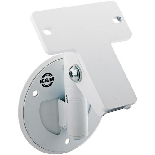 K&M 24161 Universal Speaker Wall Mount Bracket (White)