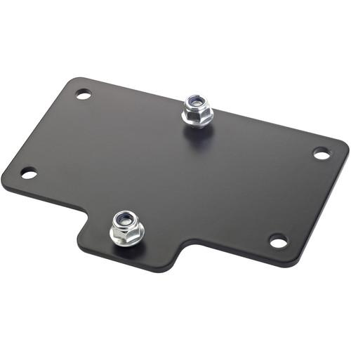 K&M Adapter Panel 4 Horizontal Mounting Bracket (Black)
