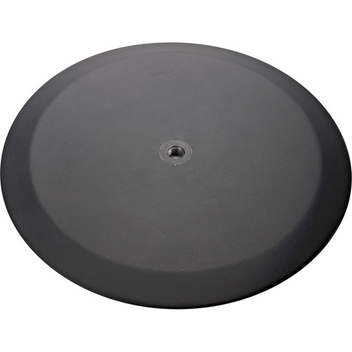 K&M Flat Round Base Plate for Select Distance Rods & Rod Combinations (Structured Black)
