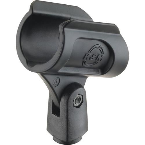 """K&M 85070 5/8"""" Microphone Clip (Black)"""