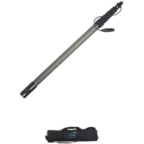 K-Tek KEG-150CCR Avalon Series Graphite Boompole with Coiled Cable and Bag Kit