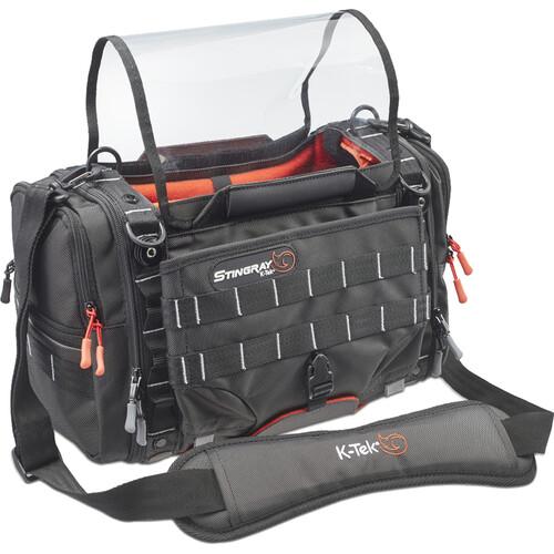 K-Tek Stingray Small-X Audio Bag for Sound Devices 833, 888, and 633 Recorders (Orange Interior)