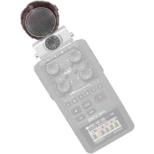 K-Tek Microphone Windscreen Topper for Zoom H6 with MS Capsule