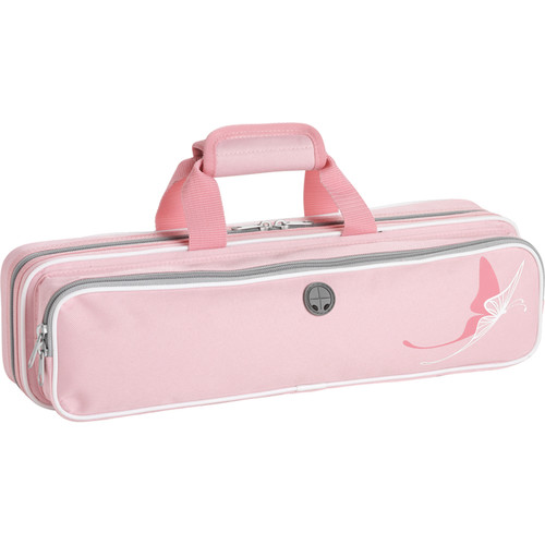 KACES Grafix Flute Case (Pink Butterfly Design)