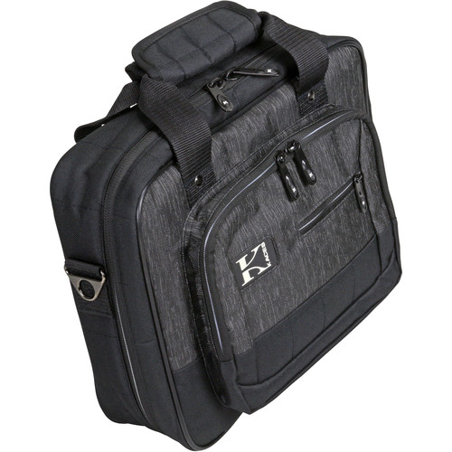 "KACES Luxe Series Bag for Keyboard & Gear (12.5 x 10.5 x 3.5"", Charcoal/Black)"