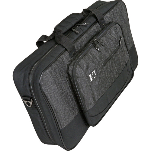 """KACES Luxe Series Bag for Keyboard & Gear (22.5 x 12 x 4"""", Charcoal/Black)"""