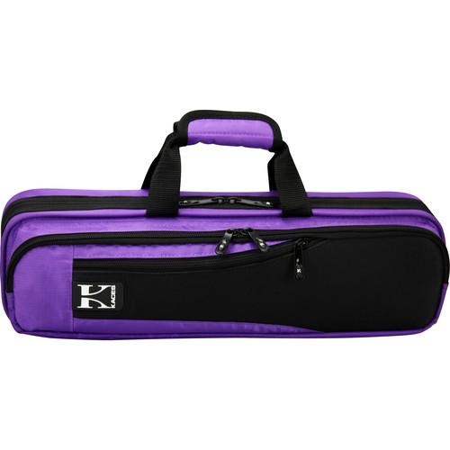 KACES Lightweight Hardshell Flute Case (Purple)