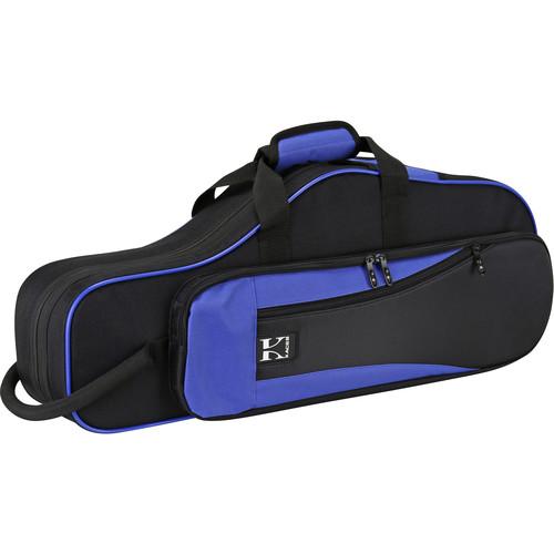 KACES Lightweight Hardshell Case for Alto Saxophone (Blue/Black)