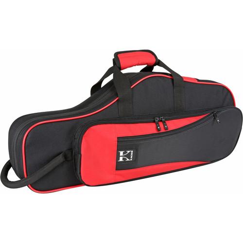 KACES Lightweight Hardshell Case for Alto Saxophone (Red/Black)