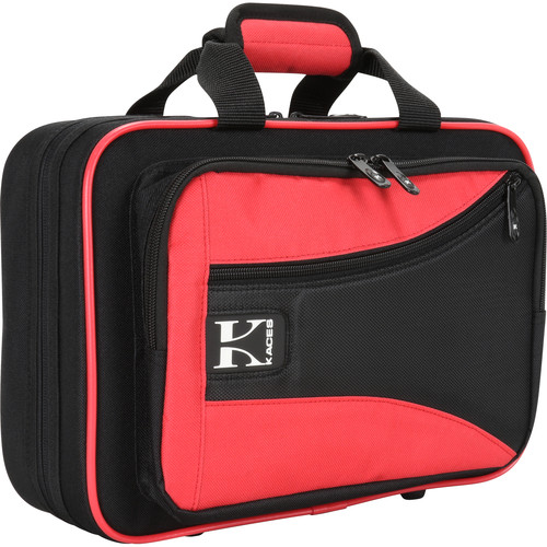 KACES Lightweight Hardshell Case for Clarinet (Red/Black)