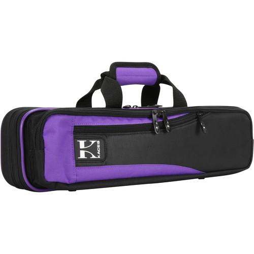 KACES Lightweight Hardshell Case for Flute (Purple/Black)