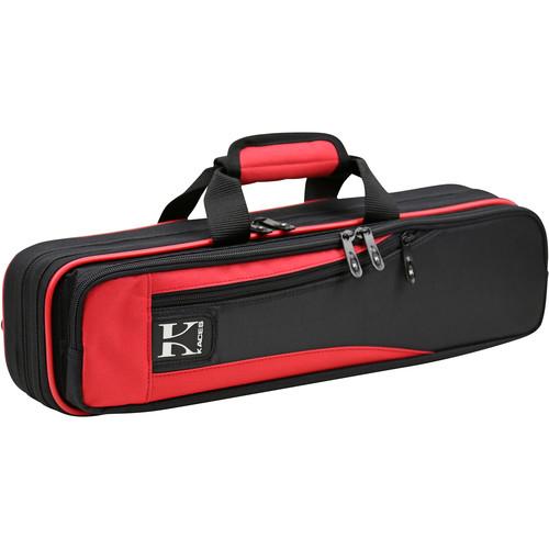 KACES Lightweight Hardshell Case for Flute (Red/Black)