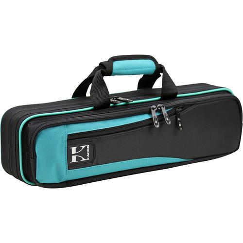 KACES Lightweight Hardshell Case for Flute (Teal/Black)