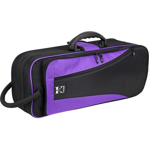 KACES Lightweight Hardshell Case for Trumpet (Purple/Black)
