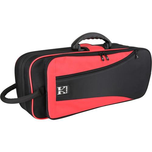 KACES Lightweight Hardshell Case for Trumpet (Red/Black)