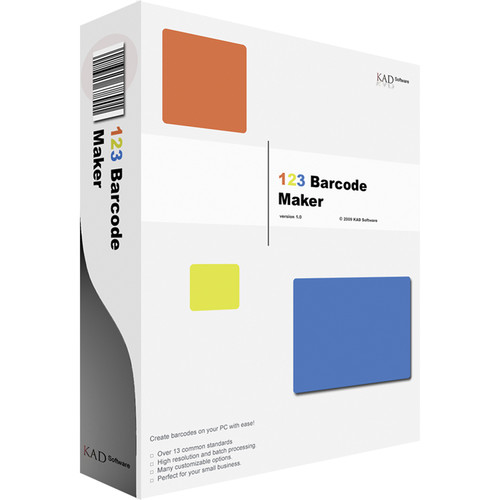 KAD Software 123 Barcode Maker (Electronic Download)