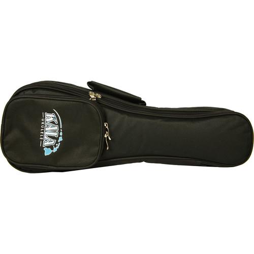 KALA Deluxe Padded Gig Bag with Hawaii Logo for Soprano Ukulele (Black)