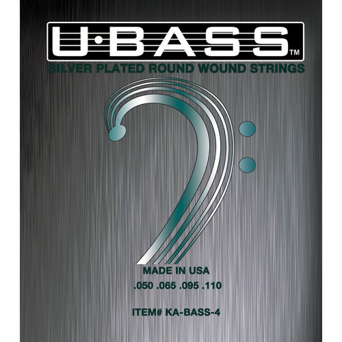 KALA Silver-Plated Roundwound U-Bass Strings (4-String, 50-110)