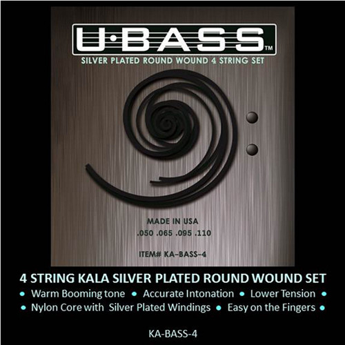 KALA Silver-Plated Roundwound U-Bass Strings (5-String, 50-125)