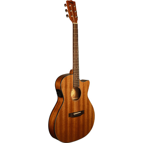 KALA Thinline Steel-String Acoustic Electric Guitar (Solid Mahogany Top)