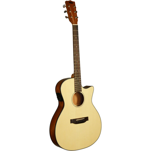 KALA Thinline Steel-String Acoustic Electric Guitar (Solid Spruce Top)